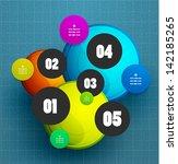 modern vector circle abstract... | Shutterstock .eps vector #142185265