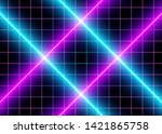 3d neon cyberspace blue and ...   Shutterstock .eps vector #1421865758