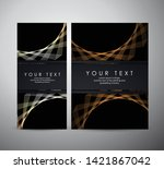 abstract gold shining pattern... | Shutterstock .eps vector #1421867042