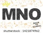 back to school. original font ... | Shutterstock .eps vector #1421874962
