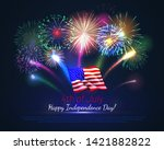 happy 4th of july usa... | Shutterstock .eps vector #1421882822
