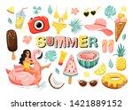 Set Of Summer Cute Elements....