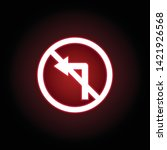 forbidden turn left icon in red ...