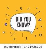 interesting fact background....   Shutterstock .eps vector #1421936108