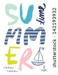 summer time poster | Shutterstock .eps vector #142193932