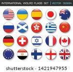 international flag set in... | Shutterstock .eps vector #1421947955