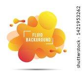 abstract liquid background ... | Shutterstock .eps vector #1421953262
