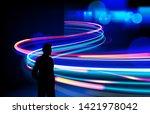 vector art of dynamic light...   Shutterstock .eps vector #1421978042