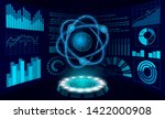 virtual reality science... | Shutterstock .eps vector #1422000908