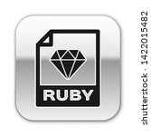 black ruby file document icon.... | Shutterstock .eps vector #1422015482