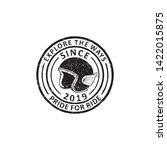 vintage badges of motorcycles... | Shutterstock .eps vector #1422015875
