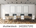 modern coworking office... | Shutterstock . vector #1422017192