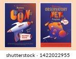 set of two mid century retro...   Shutterstock .eps vector #1422022955