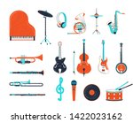 acoustic and electric musical... | Shutterstock .eps vector #1422023162