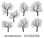 set of abstract vector stylized ...