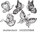 Black And White Butterflies On...