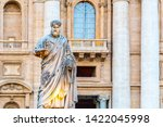 statue of saint peter with key... | Shutterstock . vector #1422045998