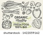 vegetables and fruits... | Shutterstock .eps vector #1422059162