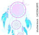 neon dream catcher with... | Shutterstock .eps vector #1422061895