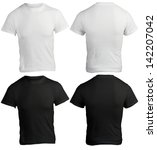 male shirt template  black and...   Shutterstock . vector #142207042