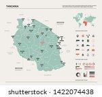 vector map of tanzania. country ... | Shutterstock .eps vector #1422074438