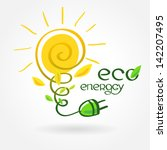 eco energy solar sun... | Shutterstock .eps vector #142207495