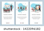business training set  man and... | Shutterstock .eps vector #1422096182