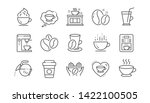 coffee line icons. beans  hot... | Shutterstock .eps vector #1422100505
