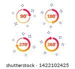 angle 45 360 degrees circle... | Shutterstock .eps vector #1422102425