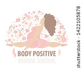 body positive girl with active... | Shutterstock .eps vector #1422105878