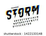 thunder storm style font design ... | Shutterstock .eps vector #1422133148