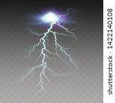 thunderstorm and lightning.... | Shutterstock .eps vector #1422140108