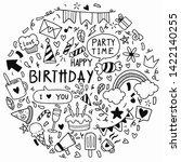 vector illustration happy... | Shutterstock .eps vector #1422140255