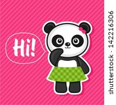 illustration of cute panda | Shutterstock .eps vector #142216306