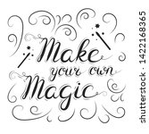 make your own magic quote with... | Shutterstock .eps vector #1422168365