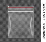 zipper locking bag mockup....   Shutterstock .eps vector #1422170525