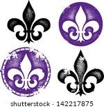 grunge fleur de lis collection | Shutterstock .eps vector #142217875