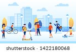 park with different people flat ... | Shutterstock .eps vector #1422180068