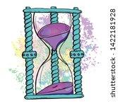 hourglass antique instrument....   Shutterstock .eps vector #1422181928
