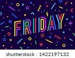 friday. banner  speech bubble ... | Shutterstock . vector #1422197132
