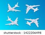 isometric passenger airplane.... | Shutterstock .eps vector #1422206498
