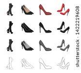 vector design of heel and high... | Shutterstock .eps vector #1422219608