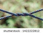 rope tie between columns in... | Shutterstock . vector #1422222812