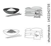 vector design of crop and... | Shutterstock .eps vector #1422242735