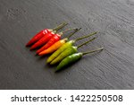 red hot chili peppers on... | Shutterstock . vector #1422250508