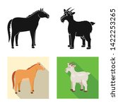 vector design of breeding and... | Shutterstock .eps vector #1422253265