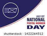 national postal worker day on... | Shutterstock .eps vector #1422264512