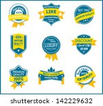 blue and yellow marketing... | Shutterstock .eps vector #142229632