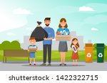 family clean and collect... | Shutterstock .eps vector #1422322715
