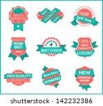top pr marketing labels  set 8  | Shutterstock .eps vector #142232386